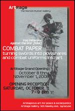 Combat paper postcard