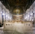 Candlelight Mass, Basilica San Clemente, Rome, Italy. By Robert Knight