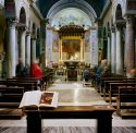 Sunday Mass, San Nicola in Carcere, Rome, Italy. By Robert Knight