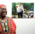 Brenda Muhammad with her photo of Talleyea Simmons